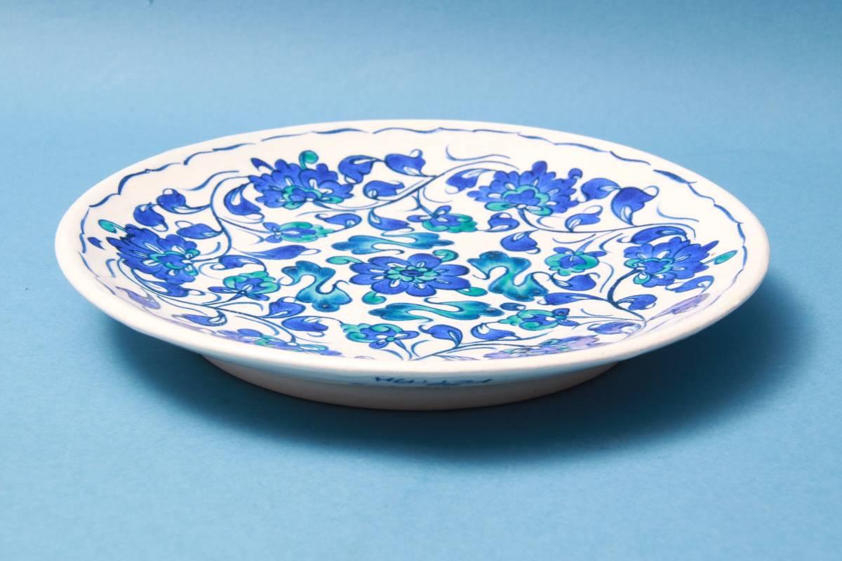 昭和レトロfettah飾り皿トルコヴィンテージ丸皿デザインレア模様