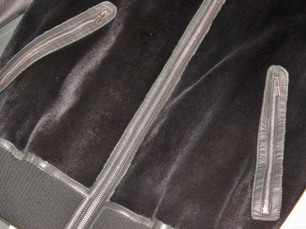 新品 HERMES 定価350万超 完売14FW 究極シェアードミンク毛皮Wフェイスレザーブルゾン メンズ46 ジャケット コート 収納バッグ付 本物 正規_画像3