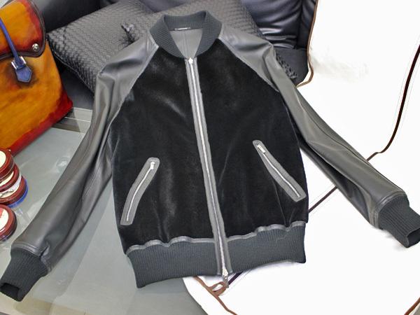 新品 HERMES 定価350万超 完売14FW 究極シェアードミンク毛皮Wフェイスレザーブルゾン メンズ46 ジャケット コート 収納バッグ付 本物 正規_画像2