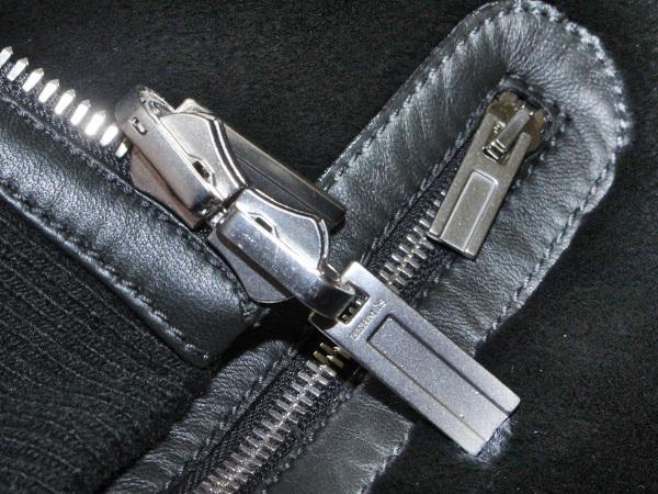 新品 HERMES 定価350万超 完売14FW 究極シェアードミンク毛皮Wフェイスレザーブルゾン メンズ46 ジャケット コート 収納バッグ付 本物 正規_画像5