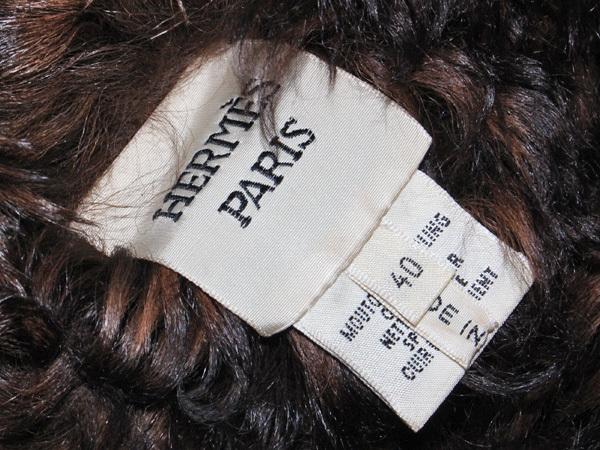 新品同 エルメス HERMES 究極のケリーコレクション最高級仔羊毛皮カーリーラムムートンコート ジャケット ブルゾン 収納バッグ付 本物 正規_画像8