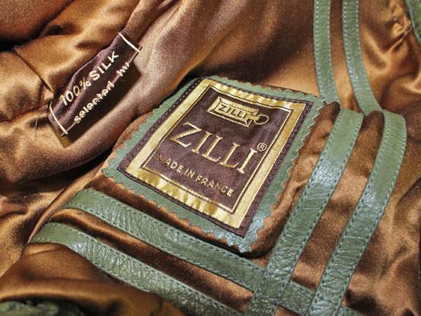 極上品 世界最高峰 ジリ 脱着ファー毛皮襟フルオーストリッチレザーブルゾン 最高級ZILLIシルク裏地 メンズ50 ジャケット コート 本物 正規_画像9
