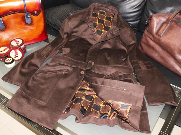 極上品 世界最高峰 ジリ 最高級ZILLIシルク裏地ピュアカシミヤ100%ベルテッドメンズコート SIGMA 紳士服 ジャケット ブルゾン 本物 正規