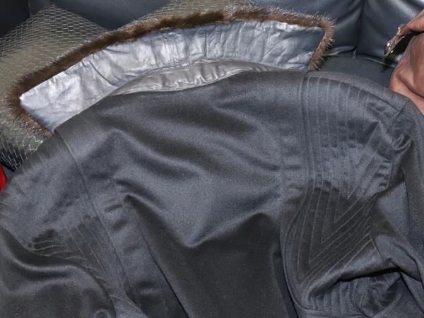 極上品 ジリ 最高級ZILLIシルク裏地 脱着ミンク毛皮ピュアカシミヤ100%ブルゾン PORSCHE 黒 ブラック 紳士服 ジャケット コート 本物 正規_画像4