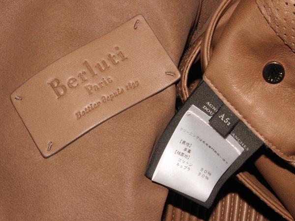 新品 ベルルッティ 完売 定価1,090,080円 最高級ラムレザーメンズコレクションブルゾン 紳士服 ジャケット コート 収納バッグ付 本物 正規_画像7