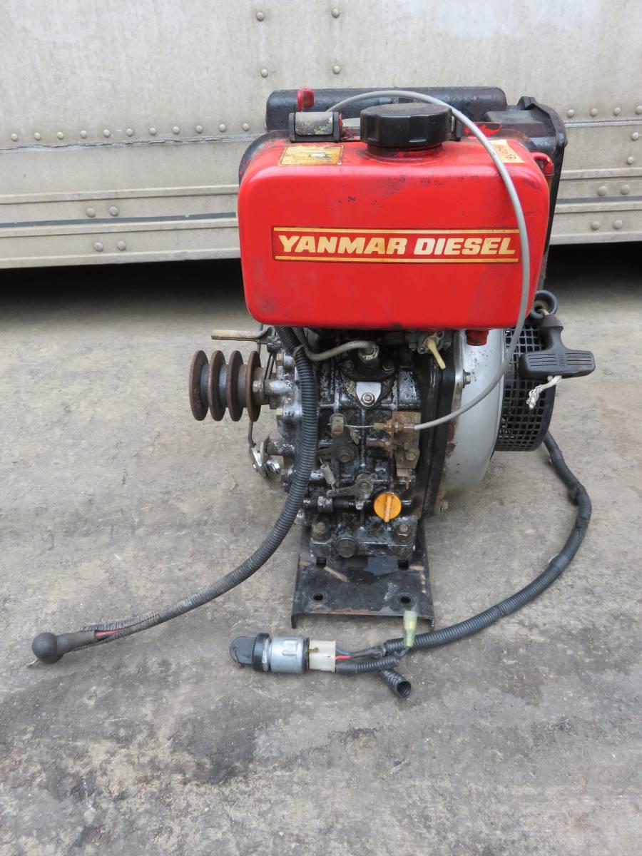 ヤンマー ディーゼル エンジン  L50-SECK ★セル付  実働品 5馬力 _画像3