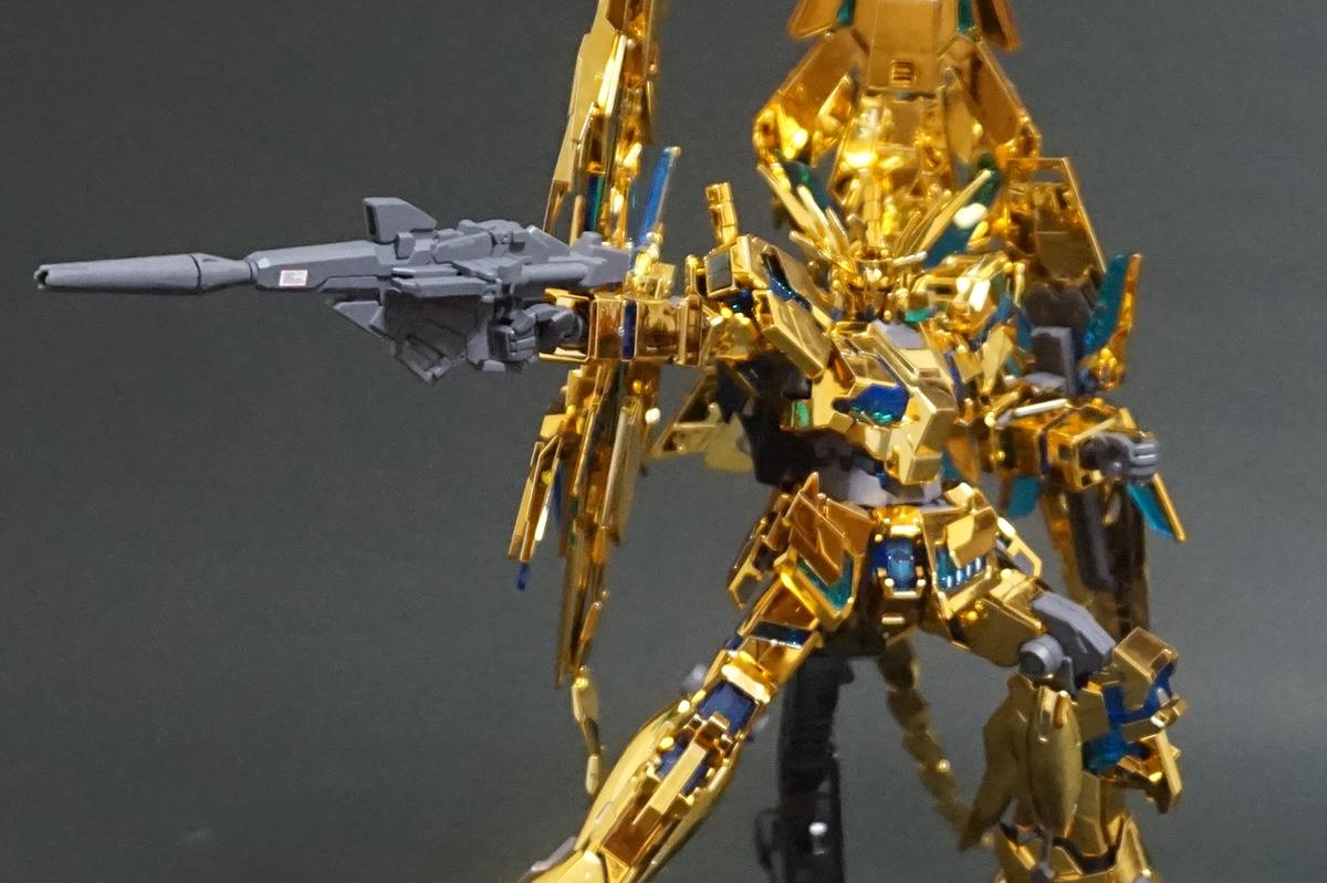 HGUC 1/144 ユニコーンガンダム3号機 フェネクス (デストロイモード) (ナラティブVer.) [ゴールドコーティング] 塗装済改修完成品_画像5