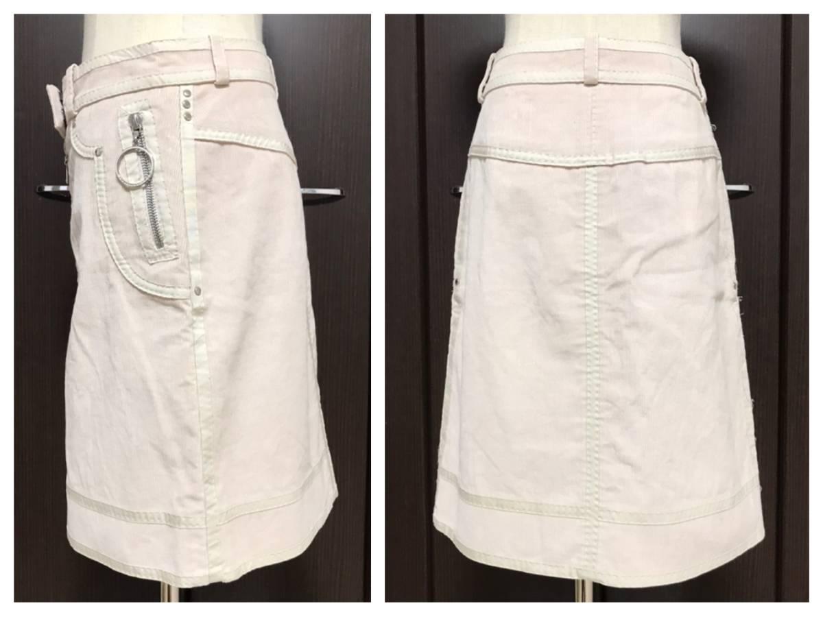 本物 LOUIS VUITTON ルイヴィトン コーデュロイ テーピングデザイン スカートスーツ 38 36 ライトピンク系_画像5
