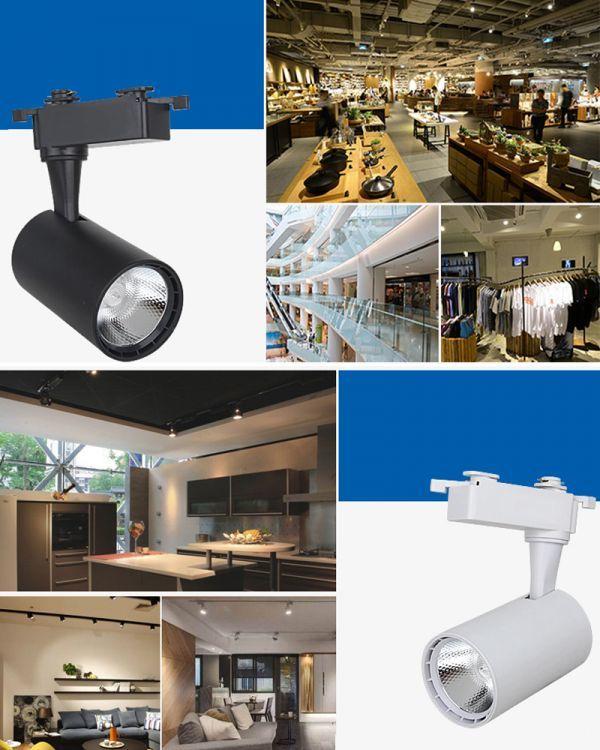 LED配線ダクトレール用 スポットライト 消費電力7W 60W相当 LEDスポットライト シーリングライト ライティン 食卓用_画像3