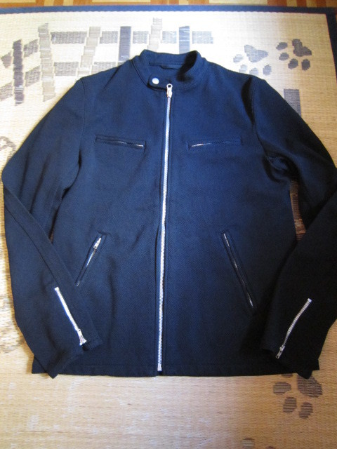 COMME des GARCONS HOMME 黒 ライダースジャケット サイズL 新品_画像1