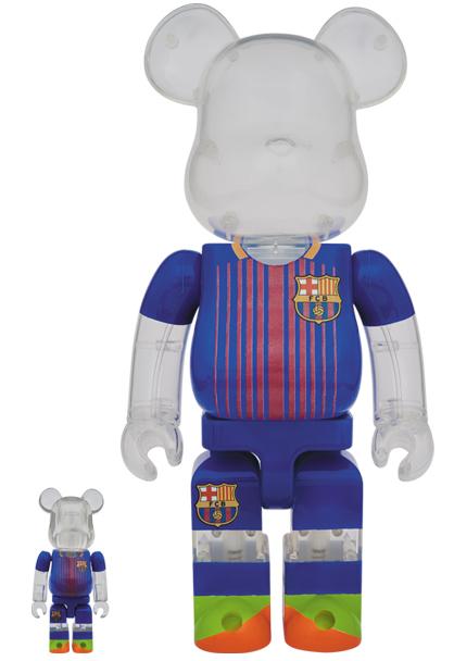 = FC バルセロナ ベアブリック 100% & 400% (検索 BE@RBRICK FC BARCELONA バルサ メッシ スペイン サッカー