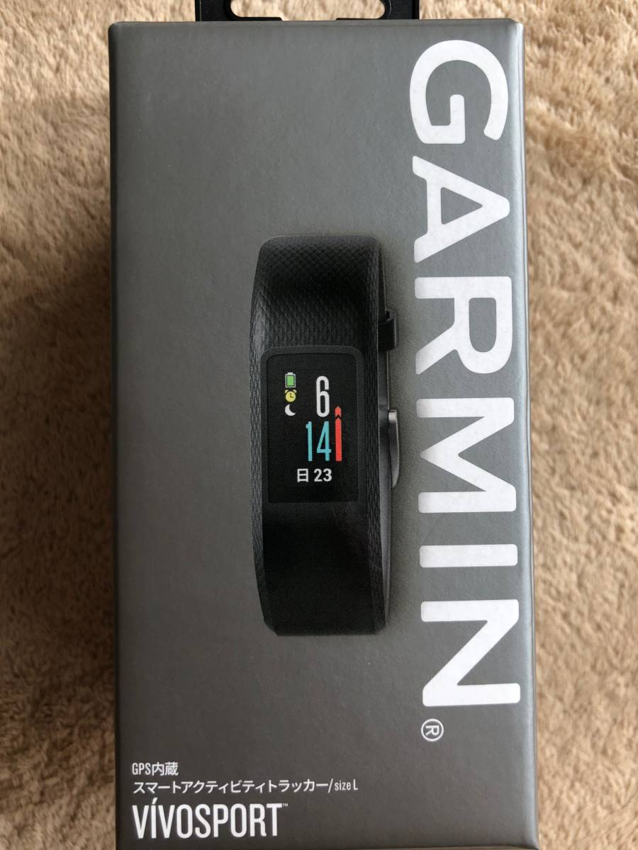 a5cf7f6ab7 GARMIN(ガーミン) GPS アクティブトラッカー vivosport Slate バンドL 未使用品 保証