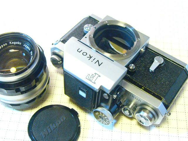 Nikon ニコン F 737番台 + フォトミックファインダーT + 1.4/50mm (実用・良品) ファインダー綺麗・レンズはおまけ/ジャンク扱い
