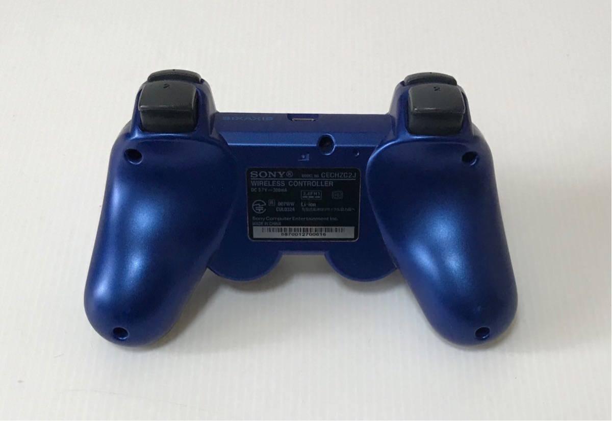 良品 希少カラー PS3 CECH-2500A GT グランツーリスモ5 レーシングパック タイタニウムブルー 付属品 完品 動作良品 プレステ 1円スタート_画像6