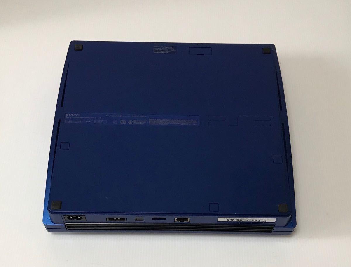 良品 希少カラー PS3 CECH-2500A GT グランツーリスモ5 レーシングパック タイタニウムブルー 付属品 完品 動作良品 プレステ 1円スタート_画像3