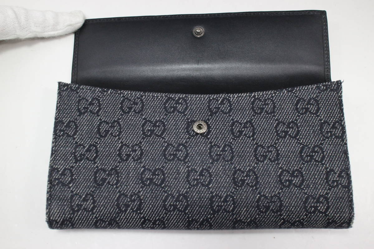 93edb2942e6 1 jpy ~ GUCCI genuine article  2... long wallet   Jackie line  GG ...