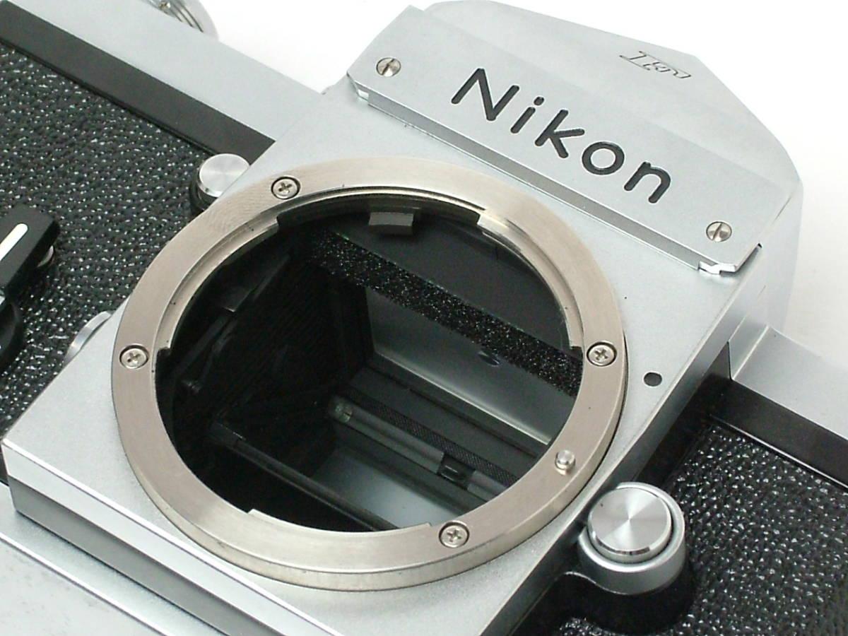 Nikon New F ボディ アイレベルファインダー 程度良品(美品中古) 743万番台_画像8