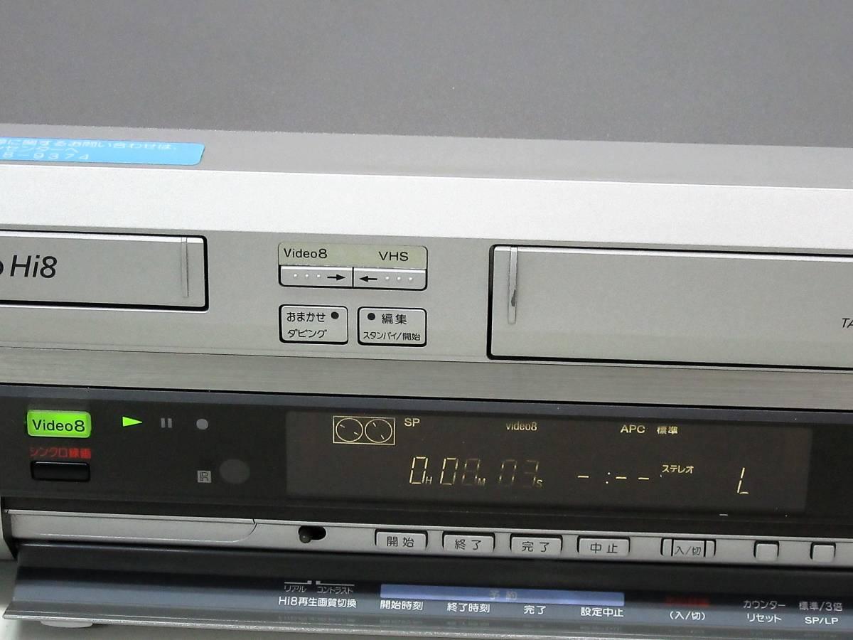 ★★高画質Hi8/VHS・整備済保証付WV-H6中古完動美品 i1013★★ リモコン付属なし HST-1! _画像4