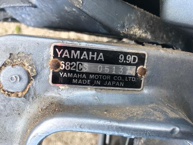 【格安売切り】最終値下げ 希少 YAMAHA ヤマハ 9.9D 小型船舶用 船外機 682-CS 9.9PS 現状品 北海道札幌発 発送できます_画像3