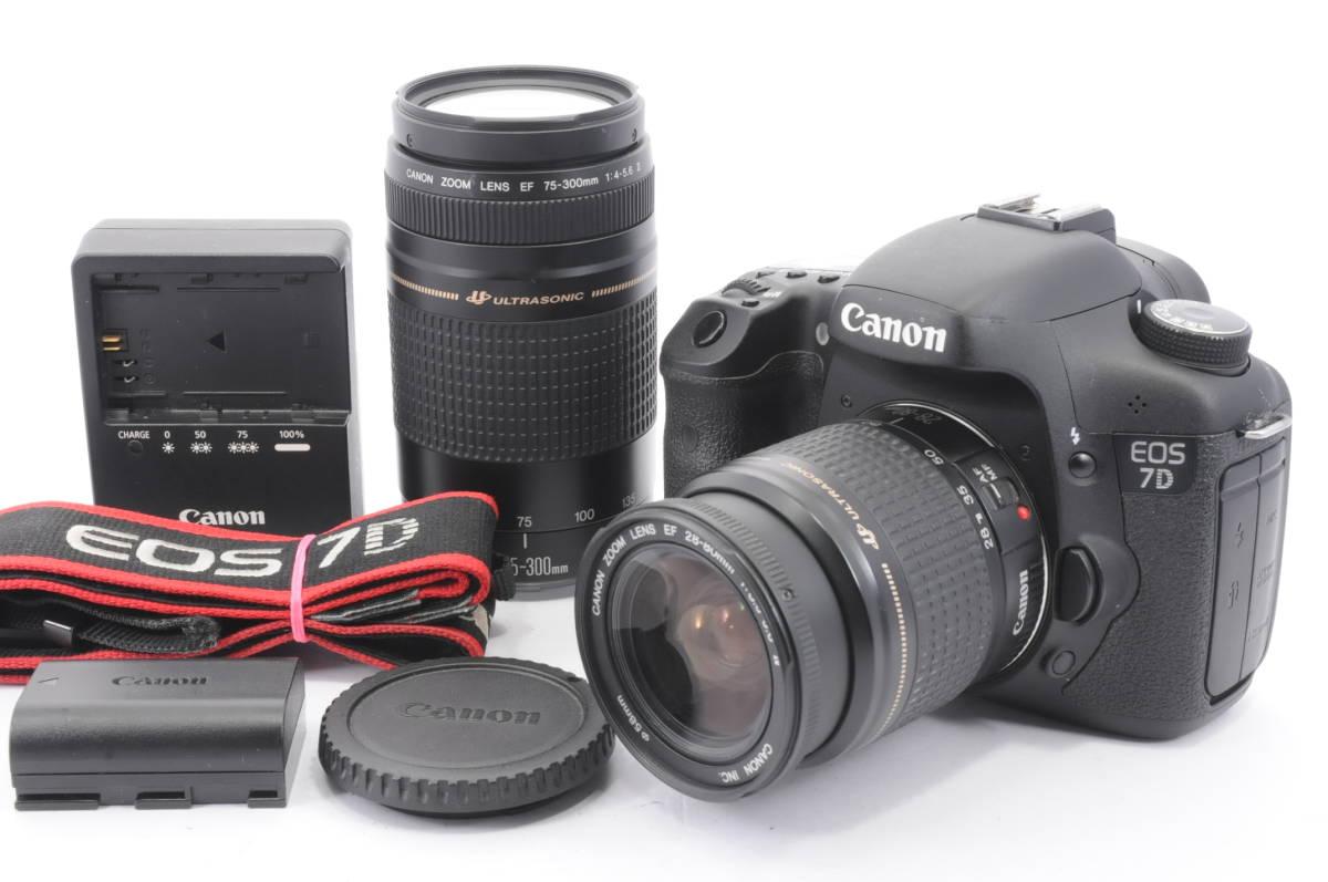 ★良品★ キャノン Canon EOS 7D 超望遠ダブルレンズセット #3329