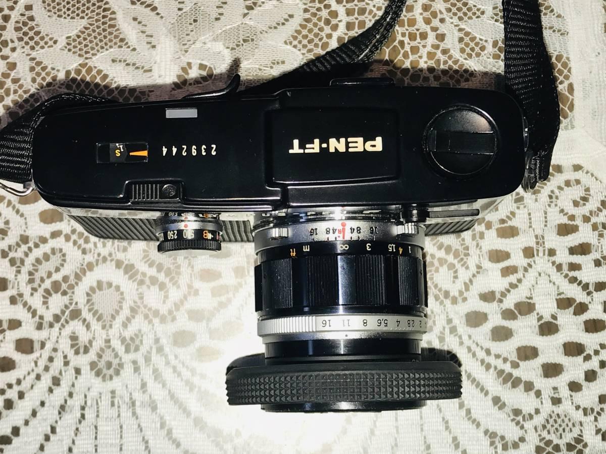 【希少・美品】OLYMPUS オリンパス PEN-FT ブラック G.Zuiko Auto-S 40mm f=1.4_画像4