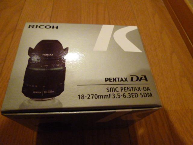 pentax 18-270 レンズ 未開封 未使用品