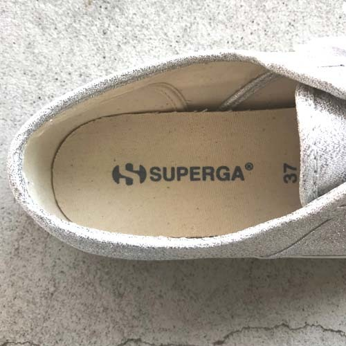 SUPERGA スペルガ S001820 ローカット スニーカー シルバーラメ グリッター EUサイズ37 23.5cm 【中古】_画像7
