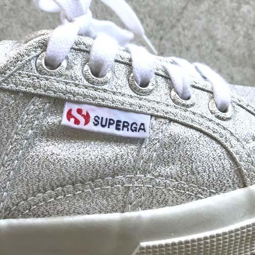SUPERGA スペルガ S001820 ローカット スニーカー シルバーラメ グリッター EUサイズ37 23.5cm 【中古】_画像8