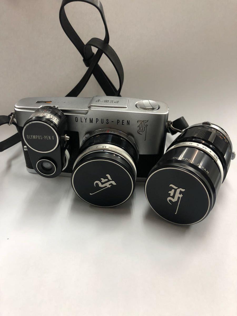 カメラ OLYMPUS オリンパス PEN F レンズ AUTO-S 1:1.8 f=38mm 他レンズ1点 No.220283