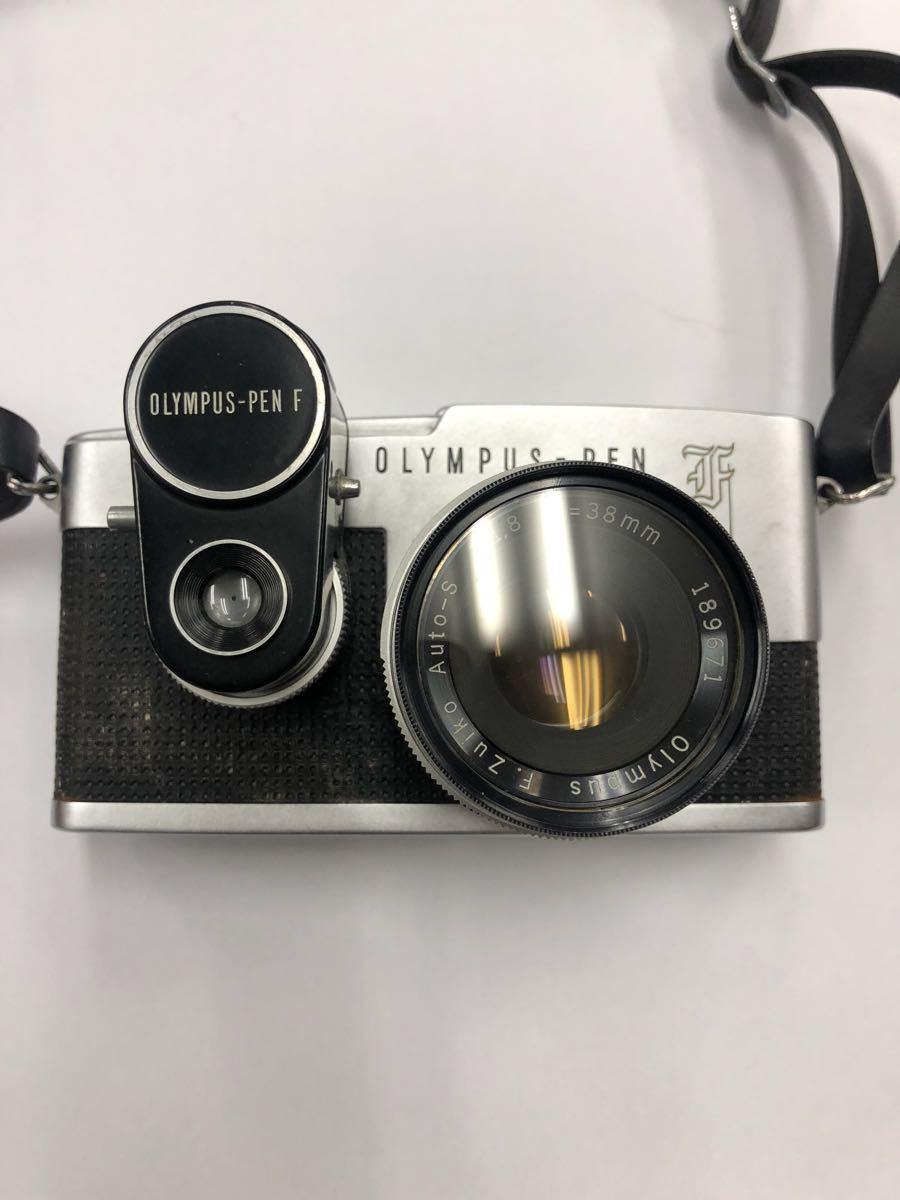 カメラ OLYMPUS オリンパス PEN F レンズ AUTO-S 1:1.8 f=38mm 他レンズ1点 No.220283_画像2