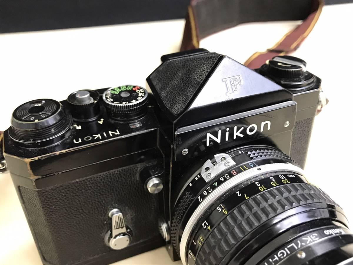 A24b06D NIKON F 50mm 1:2 ニコン フィルムカメラ ボディ レンズ_画像6