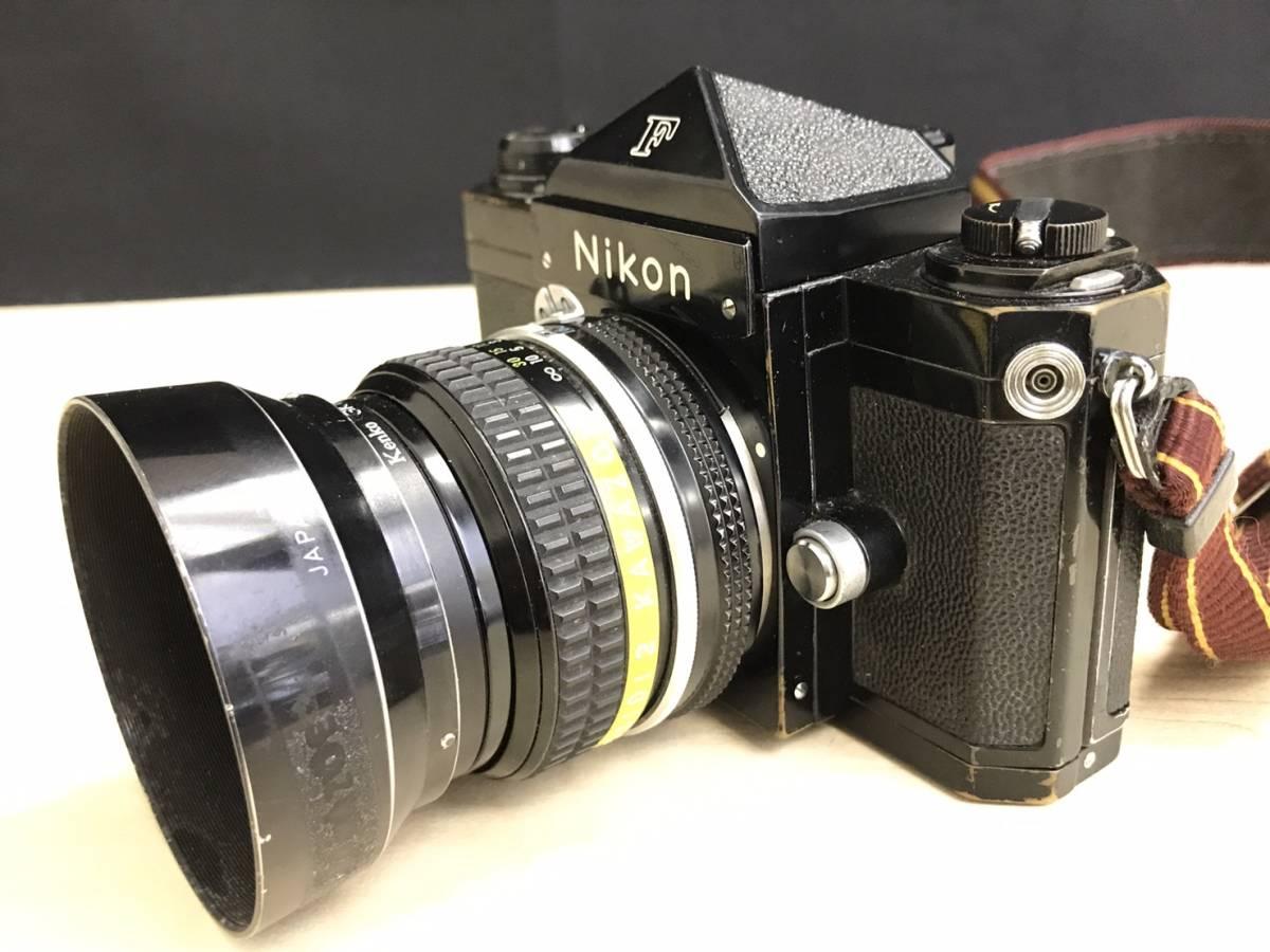 A24b06D NIKON F 50mm 1:2 ニコン フィルムカメラ ボディ レンズ_画像7