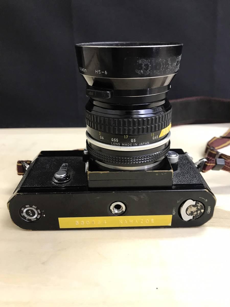 A24b06D NIKON F 50mm 1:2 ニコン フィルムカメラ ボディ レンズ_画像2