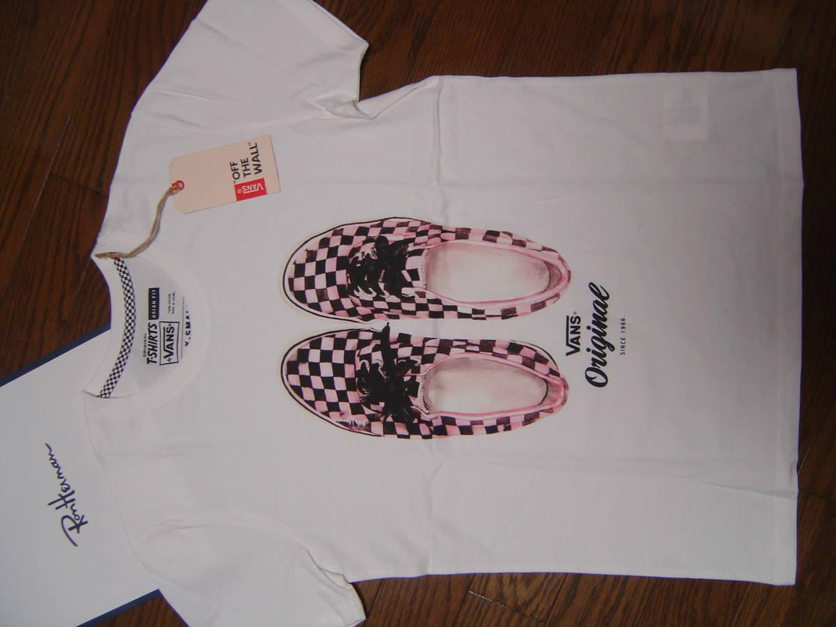 Ron Herman California RHC ロンハーマン カリフォルニア VANS オーセンテック チェッカーフラッグ柄 Tシャツ S 白 ホワイト ヴァンズ 限定_画像1