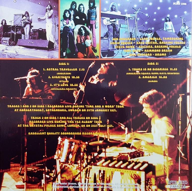 Yes - In Concert 1971 500枚限定アナログ・レコード