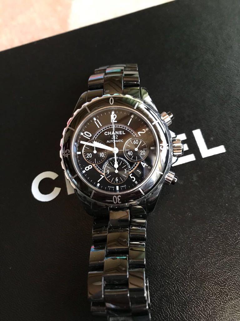 CHANEL 腕時計 美品★格安★お値下げ!J12 H0940 メンズ セラミック/クロノグラフ/41mm