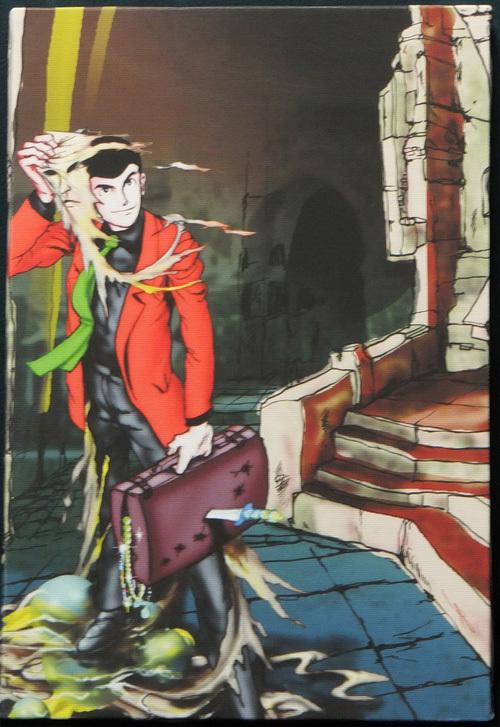 ルパン三世 モンキー・パンチ カラー複製イラスト (検索 セル画 原画 動画 レイアウト 設定 資料 貴重 セット 版画 複製 イラスト  )