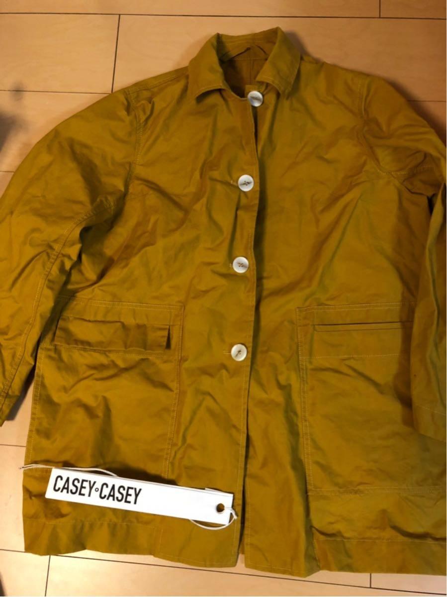 17万 ユニセックスサイズ CASEY CASEY WAX COAT S ワックスコート ケイシーケイシー マスタード 黄色_画像2