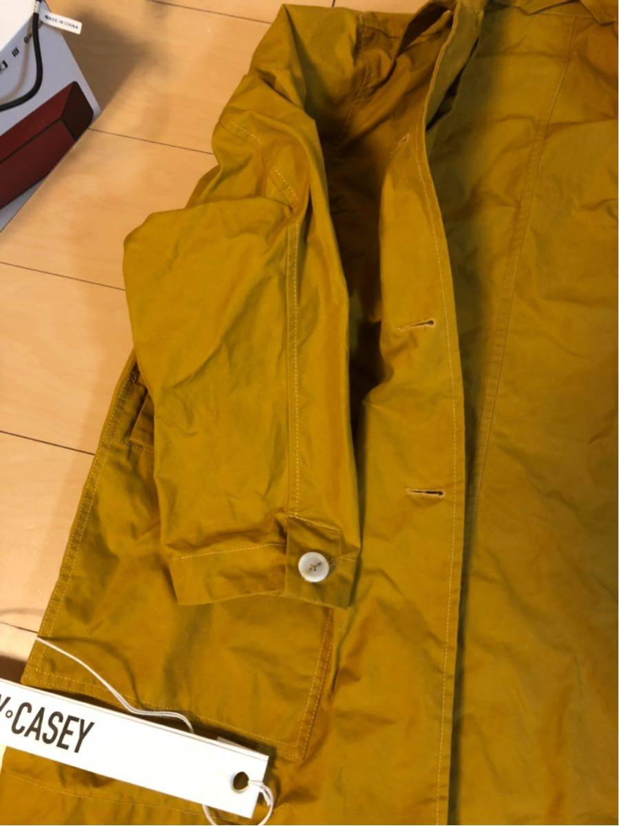 17万 ユニセックスサイズ CASEY CASEY WAX COAT S ワックスコート ケイシーケイシー マスタード 黄色_画像4