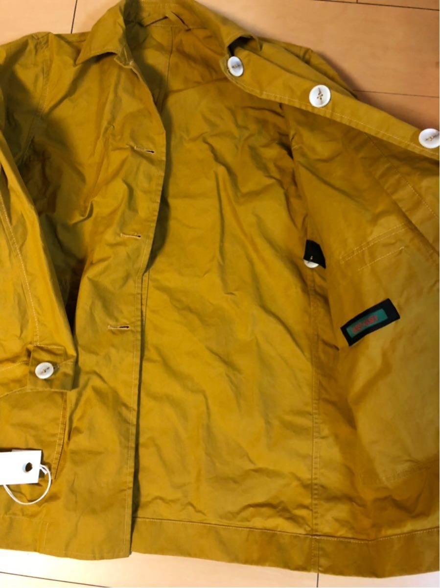 17万 ユニセックスサイズ CASEY CASEY WAX COAT S ワックスコート ケイシーケイシー マスタード 黄色_画像5