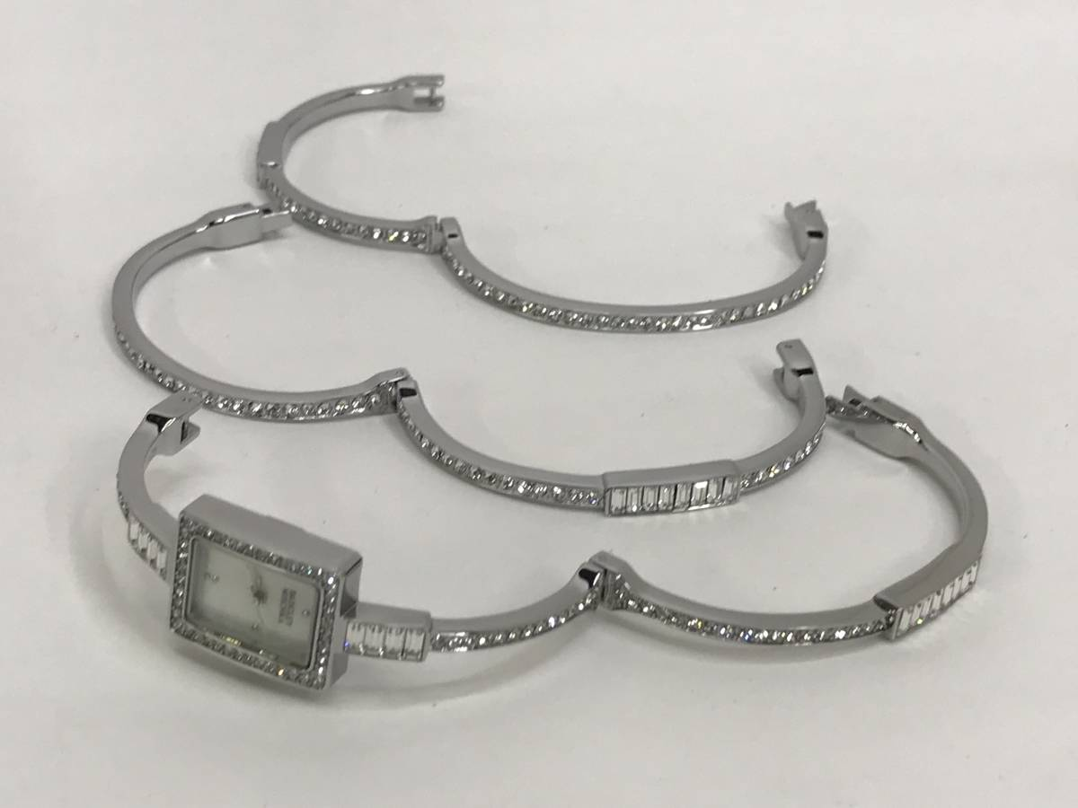 [未使用的商品] Baggery Mishka BADGLEY MISCHKA連衣裙手錶2件手錶配施華洛世奇水晶 編號:x571118976