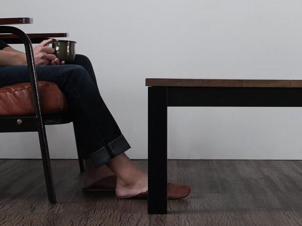 120×80cm 天然木 ビンテージデザイン こたつ 継ぎ脚付き 西海岸 ブルックリン コタツ センターテーブル ソファテーブル おしゃれ_画像6