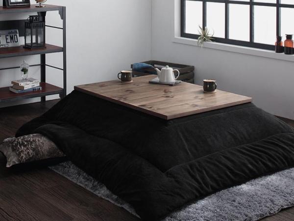 120×80cm 天然木 ビンテージデザイン こたつ 継ぎ脚付き 西海岸 ブルックリン コタツ センターテーブル ソファテーブル おしゃれ_画像3