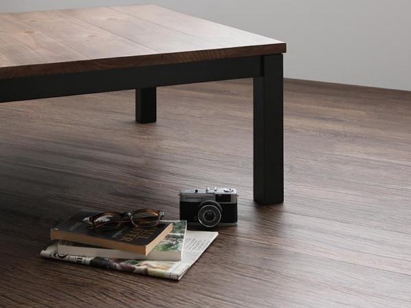 120×80cm 天然木 ビンテージデザイン こたつ 継ぎ脚付き 西海岸 ブルックリン コタツ センターテーブル ソファテーブル おしゃれ_画像5