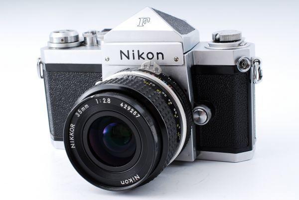 ★極上美品★Nikon ニコン F アイレベル Ai-s NIKKOR 35mm F2.8 単焦点レンズセット★395