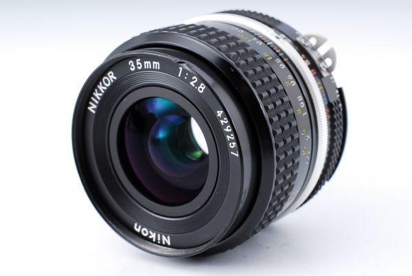 ★極上美品★Nikon ニコン F アイレベル Ai-s NIKKOR 35mm F2.8 単焦点レンズセット★395_画像8