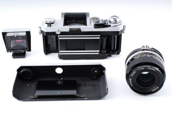 ★極上美品★Nikon ニコン F アイレベル Ai-s NIKKOR 35mm F2.8 単焦点レンズセット★395_画像10