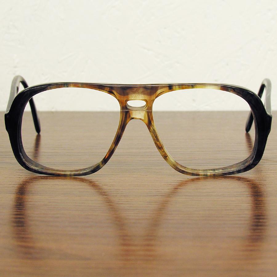 レア!! 1970年代ヴィンテージ ウェリントン スモークブラウン ツーブリッジ フレーム 70sアメリカ製 眼鏡メガネ鼈甲柄 64_画像1