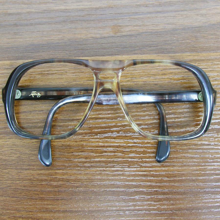 レア!! 1970年代ヴィンテージ ウェリントン スモークブラウン ツーブリッジ フレーム 70sアメリカ製 眼鏡メガネ鼈甲柄 64_画像2