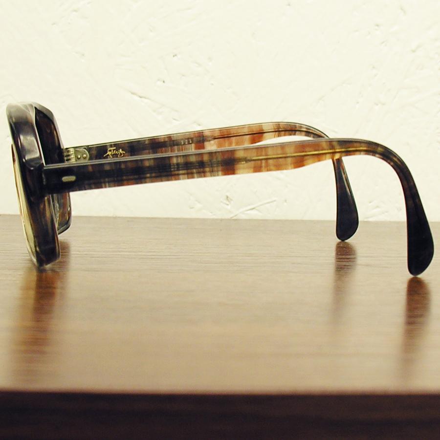 レア!! 1970年代ヴィンテージ ウェリントン スモークブラウン ツーブリッジ フレーム 70sアメリカ製 眼鏡メガネ鼈甲柄 64_画像4